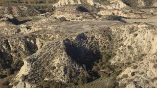 Imagen del yacimiento arqueológico El Garcel, en el municpio de Antas.