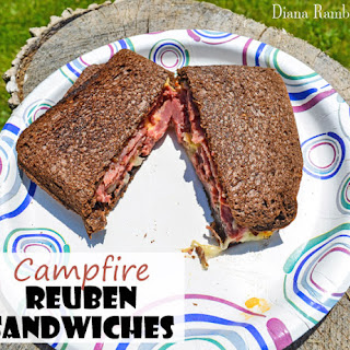 Reuben Inspired Campfire Sandwiches