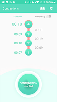 screenshot of Contraction Timer & Counter 9m
