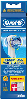 Oral B Precision Clean Replacement Electric Toothbrush Heads - 4 Pack