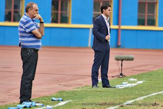 Photo: Head Coaches Avram Grant (Ghana) and Johnny McKinstry (Rwanda) [Rwanda Vs Ghana AFCON2017 Qualifier, 5 Sep 2015 in Kigali, Rwanda.  Photo © Darren McKinstry 2015