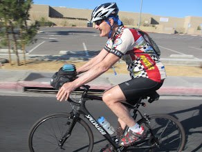 Photo: Klaus, riding out of Barstow
