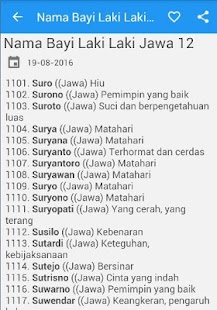 Nama Bayi Laki Laki Jawa - náhled