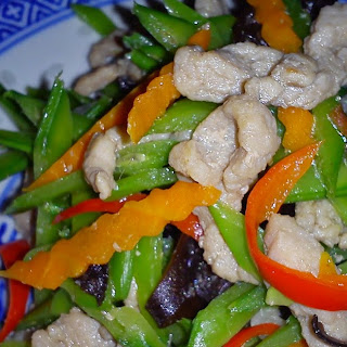 EZCR #9 - STIR FRY SHREDDED SWEET PEAS with MEAT Recipe