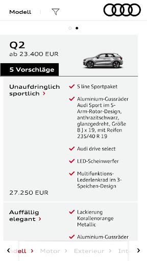 Audi Konfigurator Deutschland screenshot 2
