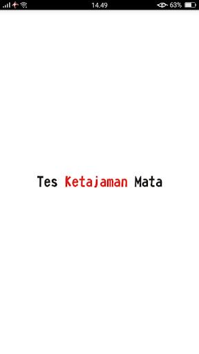 Tes Ketajaman Mata - Tes Buta Warna 1.0 screenshots 1