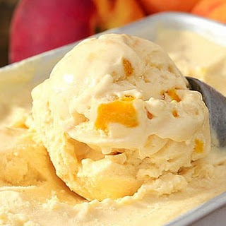 No-Churn Peaches & Cream Ice Cream