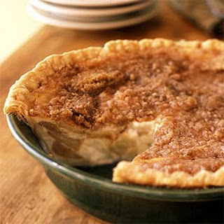 Warm Apple-Buttermilk Custard Pie.