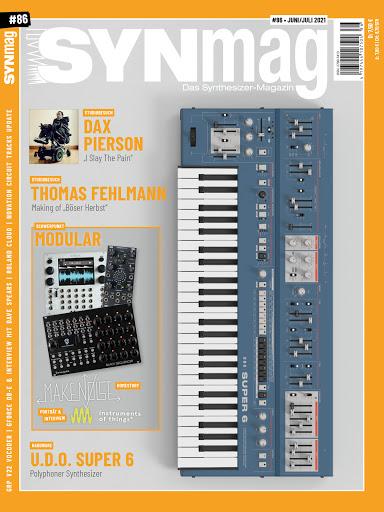 SynMag 86 – Das Synthesizer-Magazin – U.D.O Super 6, Novation Circuit Tracks, Modular Special (inkl Make Noise Bericht)