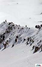 Photo: Marta & Aljona on the ridge