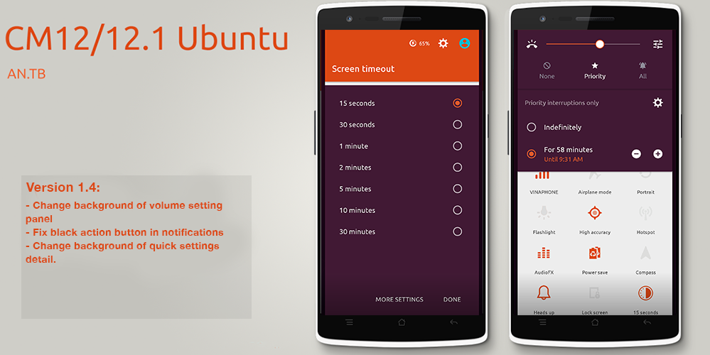 CM12/12.1 Ubuntu theme - screenshot