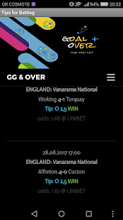 GG & Over Soccer Tips APK Download - Android Sports Apps