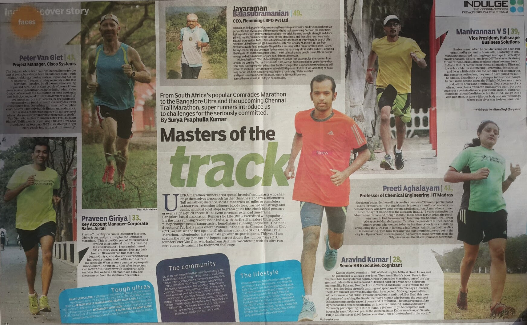 Photo: Indian Express Indulge cover story on Ultra Running, endurance, mental toughness, changing your lifestyle and connecting with nature.