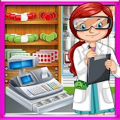 supermarket drugstore cashier : kids doctor games