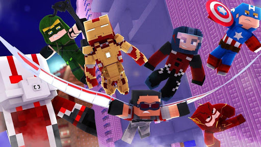 Superhero Skins for Minecraft Pocket Edition MCPE 1.1 screenshots 1