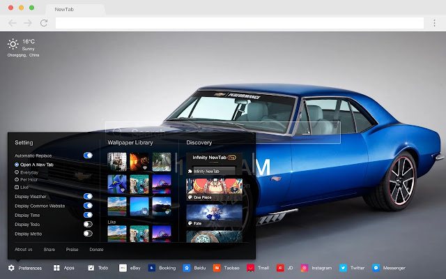 Comalo New Tabs Popular Cars HD Themes