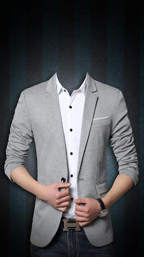 カジュアルな男性のスーツ写真編集アプリ
