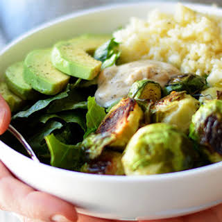 Roasted Brussels Sprout and Couscous Salad.