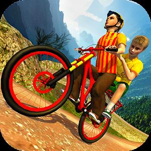 Kids Bicycle Taxi Sim 2018: Offroad BMX Racing