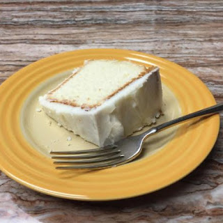 Whipping Cream Pound Cake with Cream Cheese Icing