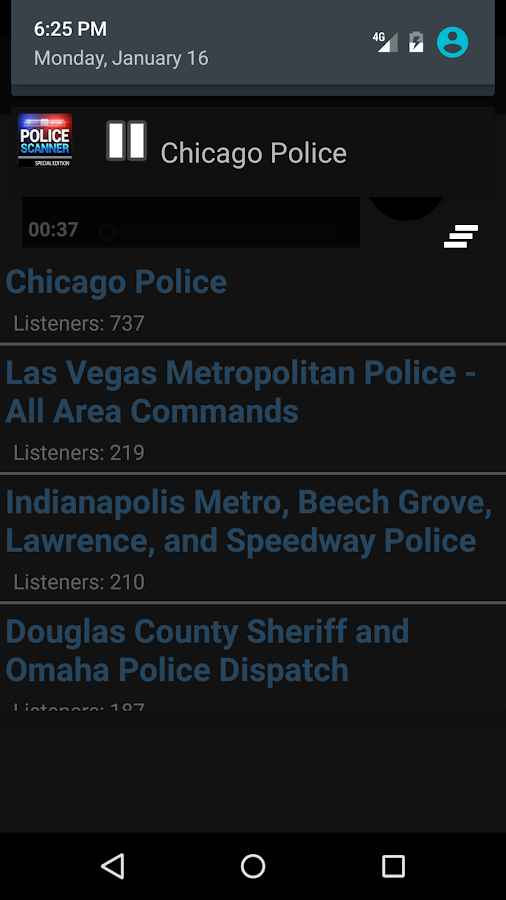 Police Radio Scanner SE- screenshot
