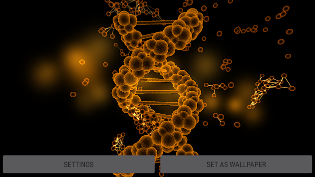 Blood Cells Particles 3D Parallax Live Wallpaper Poster