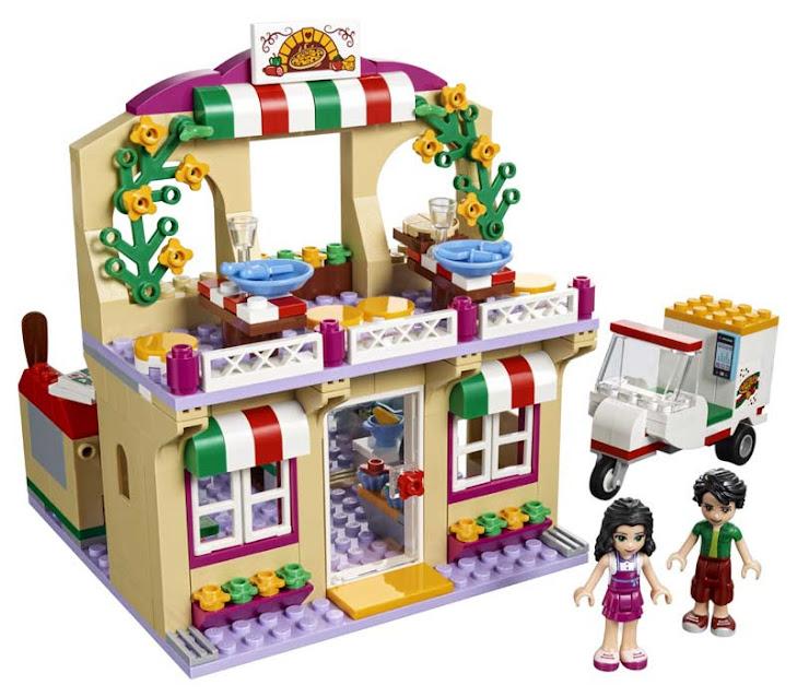 Contenido de Lego® 41311 Pizzería de Heartlake