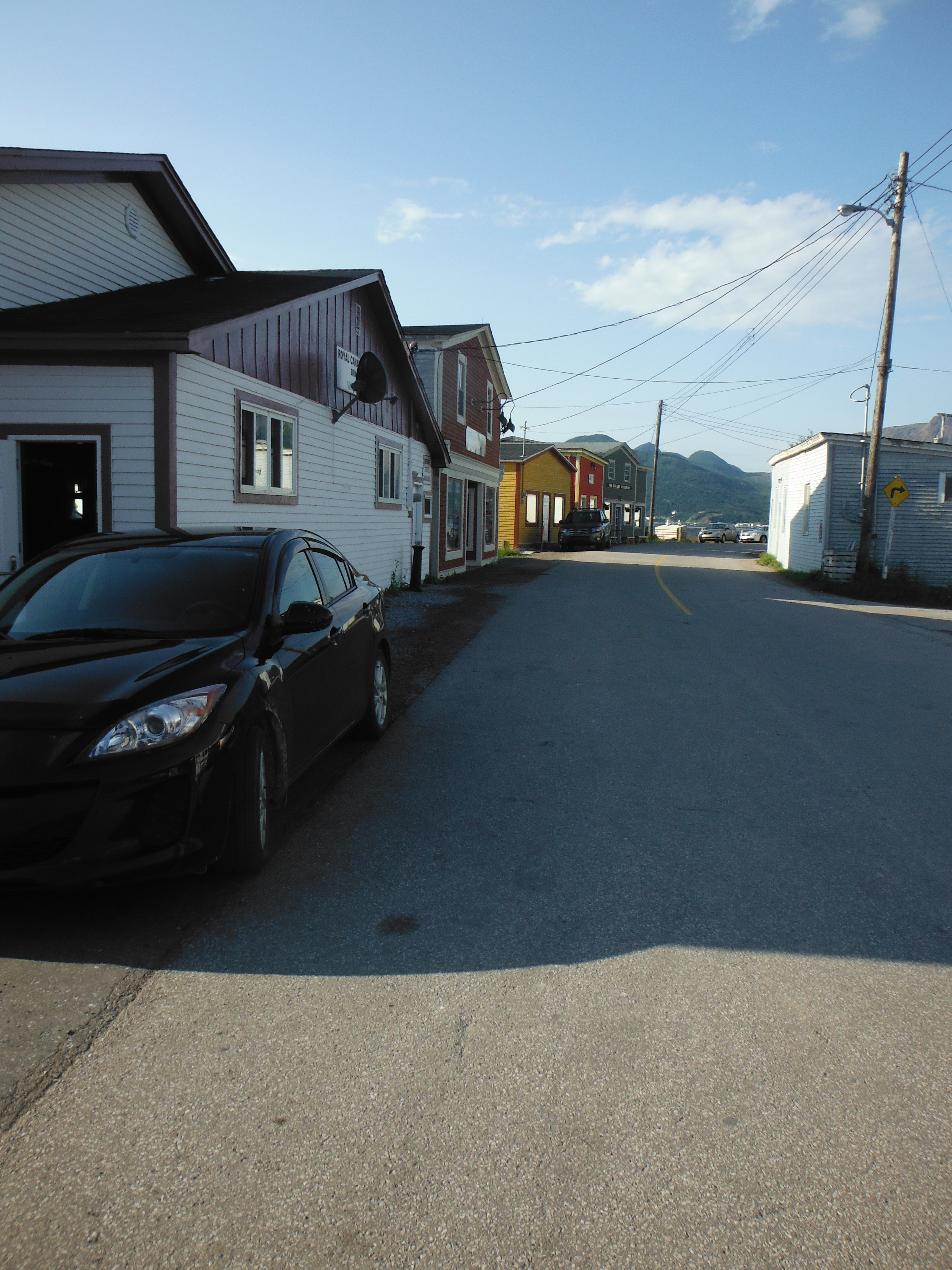 Photo: Water Street in Woody Point early in the morning. Once the activities of the day for Writers at Woody Point began people flocked to the waterfront to take part in the many activities.