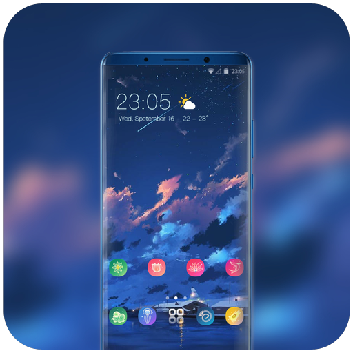 Theme for vivo v9 pro anime night wallpaper icon
