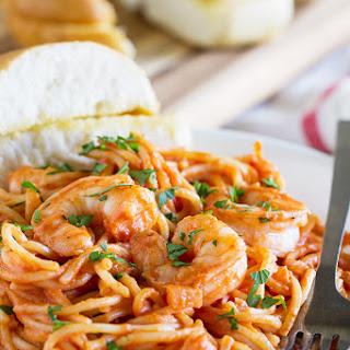 Creamy Tomato Pasta with Shrimp