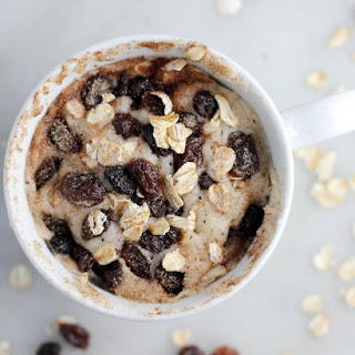 Oatmeal Raisin Cookie Mug Cake.