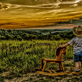 Watching the sunset by Jozette Spacht - Babies & Children Child Portraits