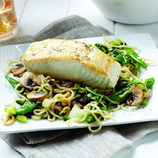 Miso Halibut with Soba Noodle Stir-Fry