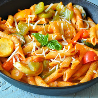 One Pot Penne Pasta with Mixed Vegetables Recipe