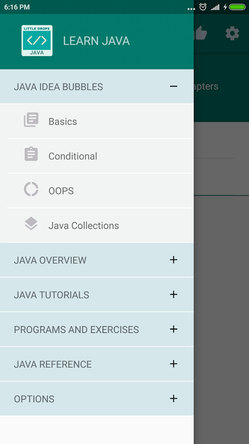 Learn Java- screenshot