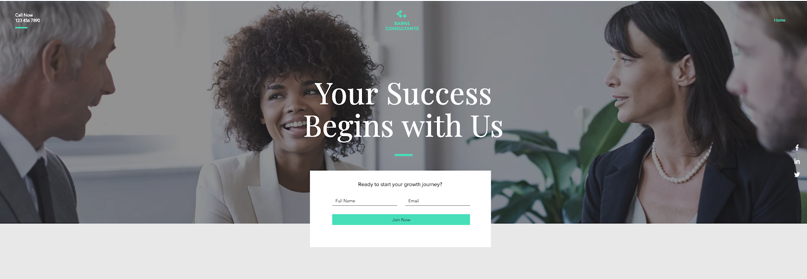 Lead-Gen Landing Page from Wix