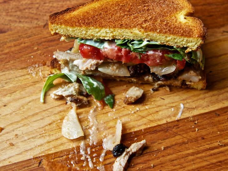 The Turkey Club Shawarma Sandwich with Pork Belly and Enhanced Mayo Recipe