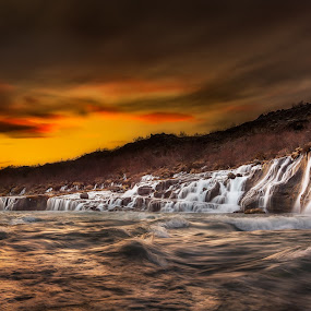 Clearwater by Kaspars Dzenis - Landscapes Waterscapes ( iceland, nature, sunset, waterfall, landscape )