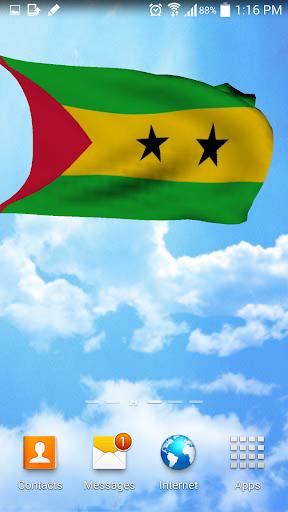 Sao Tome and Principe 3D Flag
