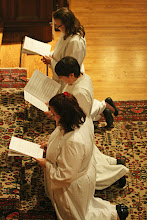 Photo: The ordinands kneel for the Litany for Ordinations