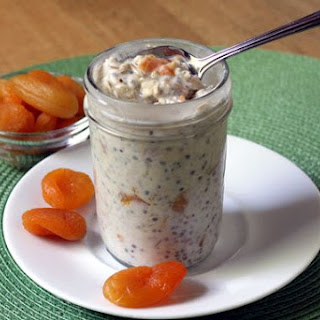 Apricot Ginger Refrigerator Oatmeal.