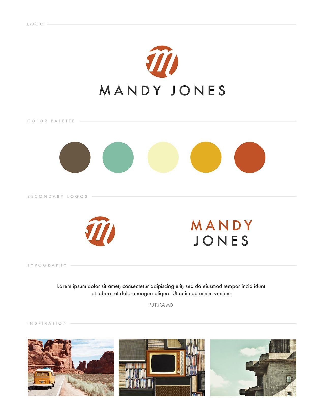 Jones Brand Board - Brand Board Template