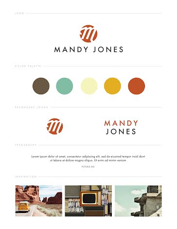 Jones Brand Board - Brand Board Template