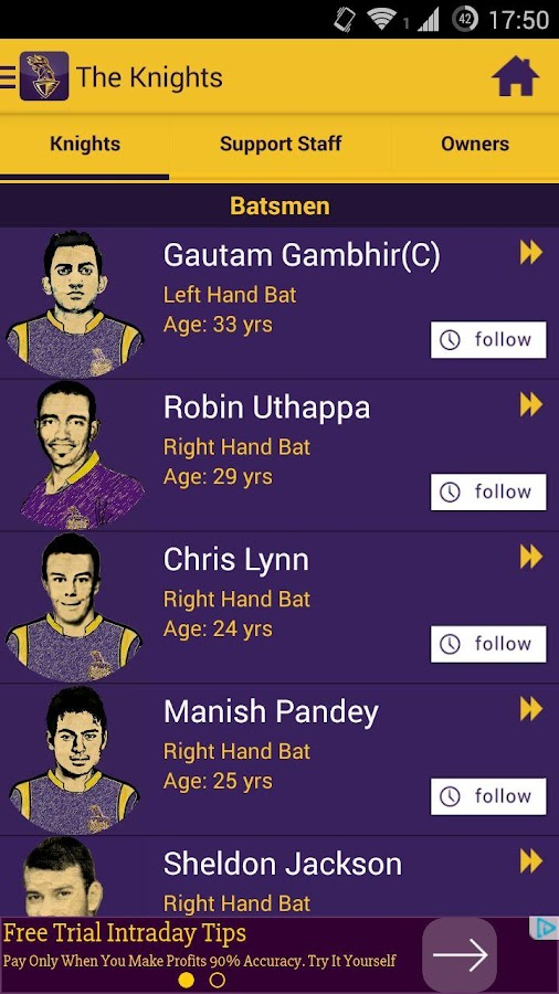 Kolkata Knight Riders IPL 2015- screenshot