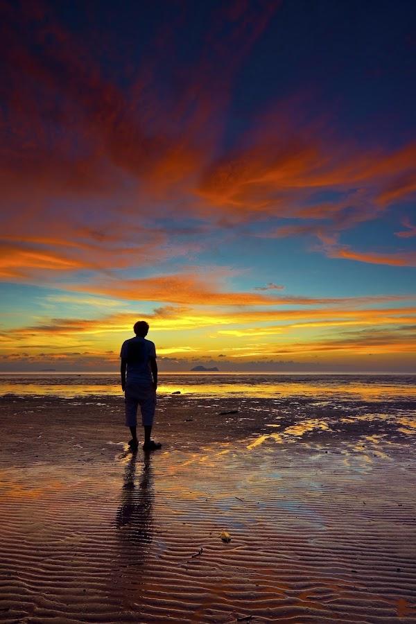 Bye Bye Mr. Sun by Frampton Panchong - Landscapes Waterscapes ( #pwcredscapes )