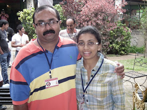 Photo: What a terrific couple these two make - Arul Karthikeyan with his devoted wife Gayatri