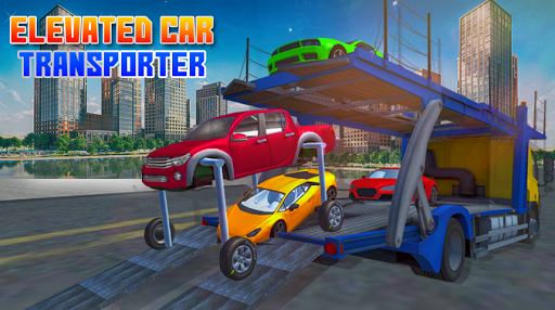 Elevated Car Transporter Game: Cargo truck Driver 1.0 screenshots 1