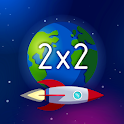 Space Math - Times tables games free, mental maths icon