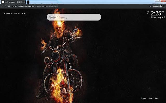 Tema Ghost Rider Wallpaper Hd Nueva Pestaña