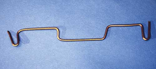 The final shape of the transverse sinal pin for a beak traction technique
